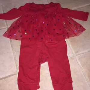 Gap one piece with tulle overlay 6-12 months